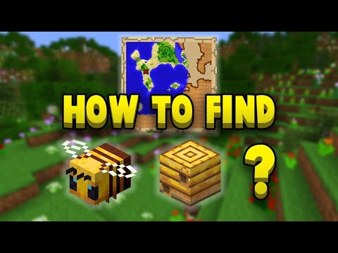 Where & How To Find Bees In Survival - Minecraft PS4 / PE