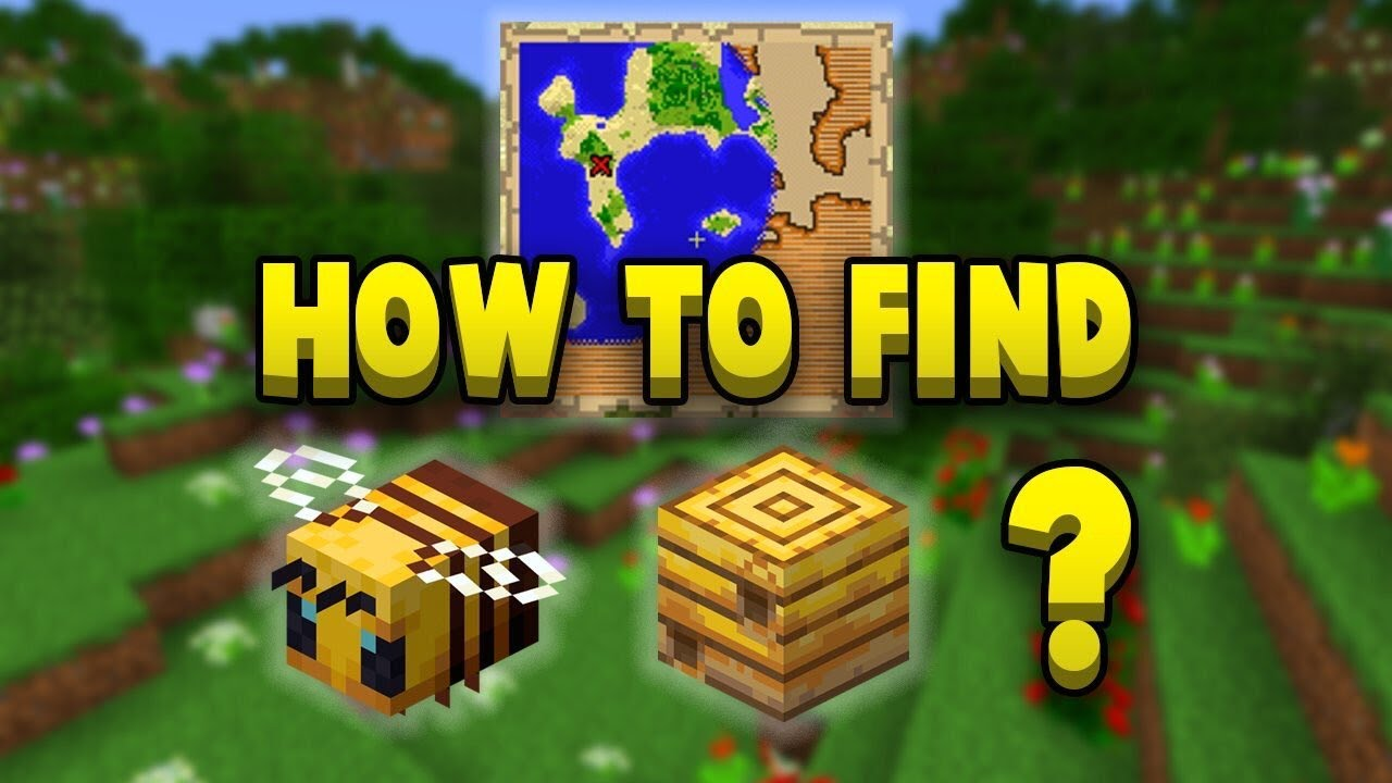 Where How To Find Bees In Survival Minecraft PS4 / PE YouTube