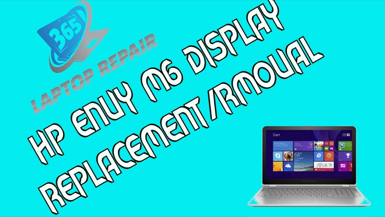 HP Envy x360 M6-W Touch Screen Display/LCD Teardown/Replacement- by 365