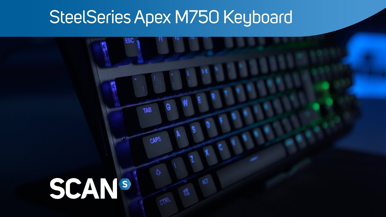 c6c7a564f19 SteelSeries Apex M750 RGB Gaming Keyboard - Overview - YouTube
