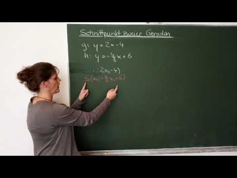 Schnittpunkt zweier Geraden berechnen, lineare Funktionen | Verständlich erklärt from YouTube · Duration:  9 minutes 51 seconds