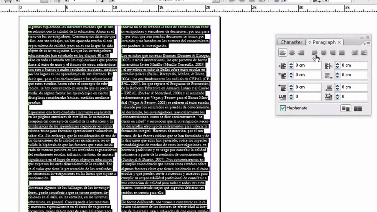 ADOBE INDESIGN: Texto, Imagenes (Parte 1 de 2) - [Tutorial No. 2 ...