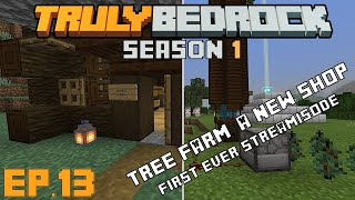Truly Bedrock s1 e13 The tree farm and wood shop  First ever streamisode