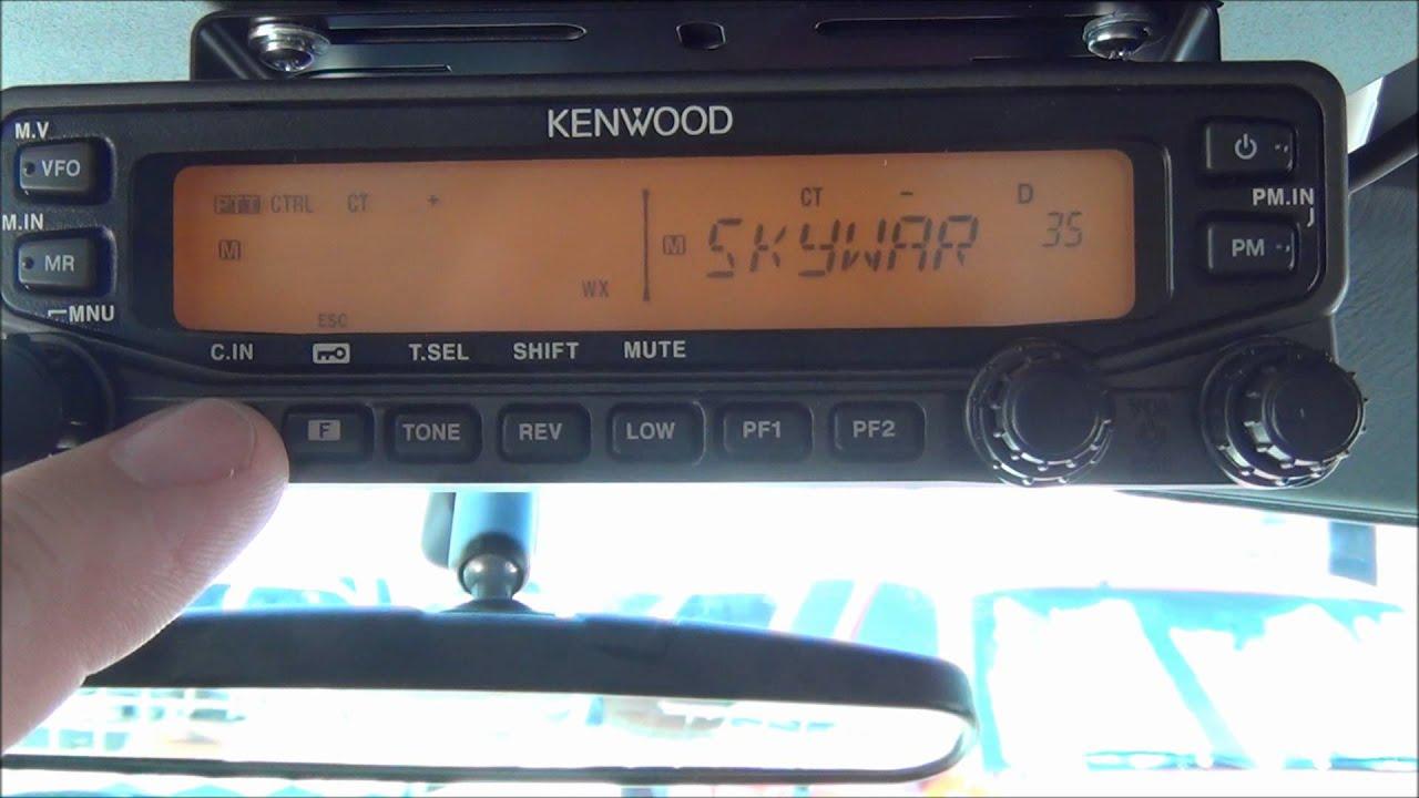 Programming a repeater into a Kenwood TM-V71 Amateur Radio - AF5DN