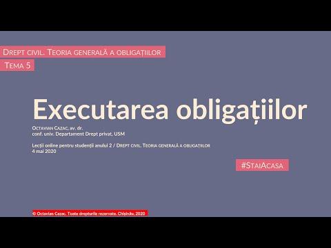 Executarea obligatiilor (MD)