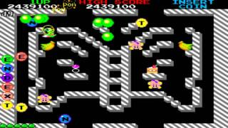 Bubble Bobble Round 36  to 50 1986 Taito Mame Retro Arcade Games