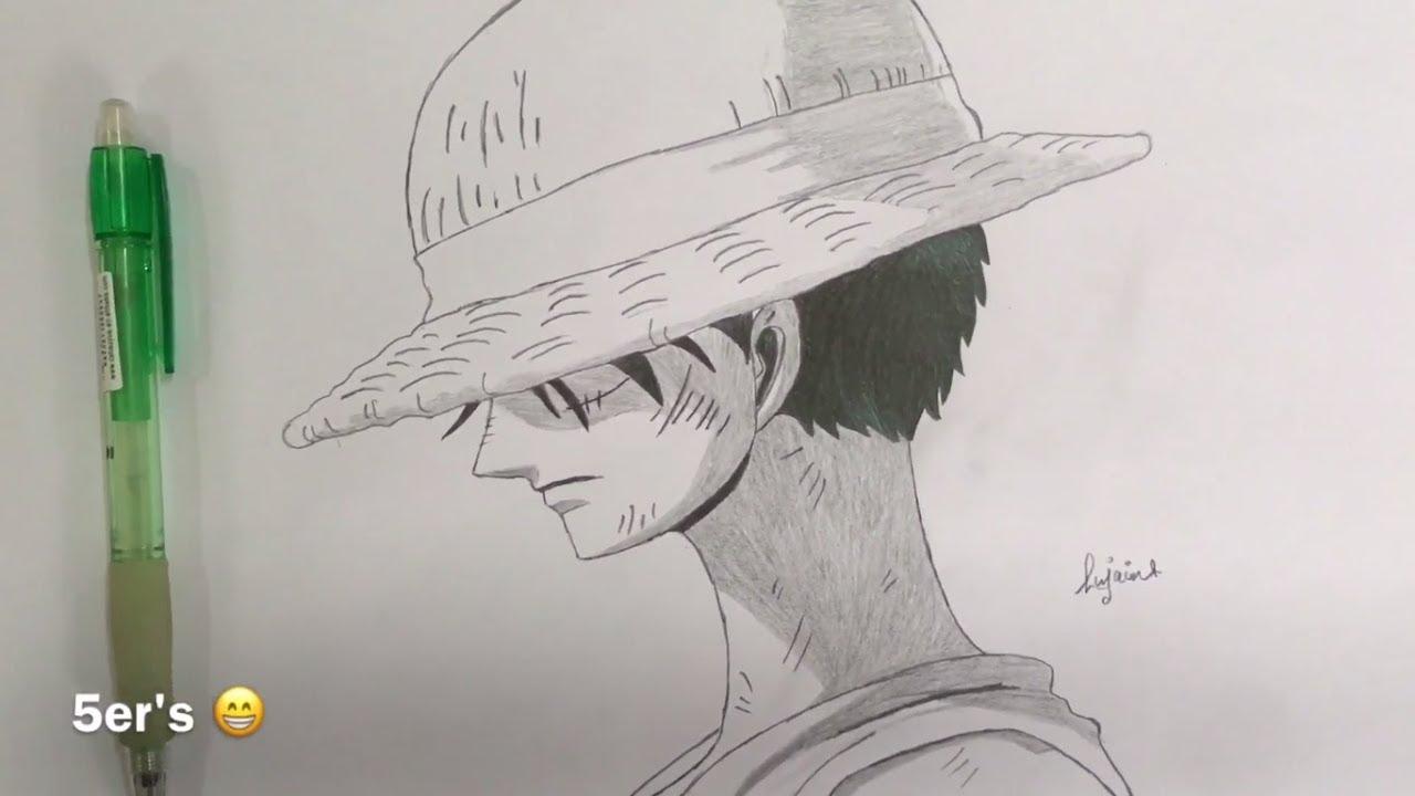 One Piece Monkey D Luffy Drawing ون بيس رسم مونكي دي لوفي