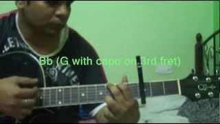 Tere bin nahin lagda dil mera on Guitar