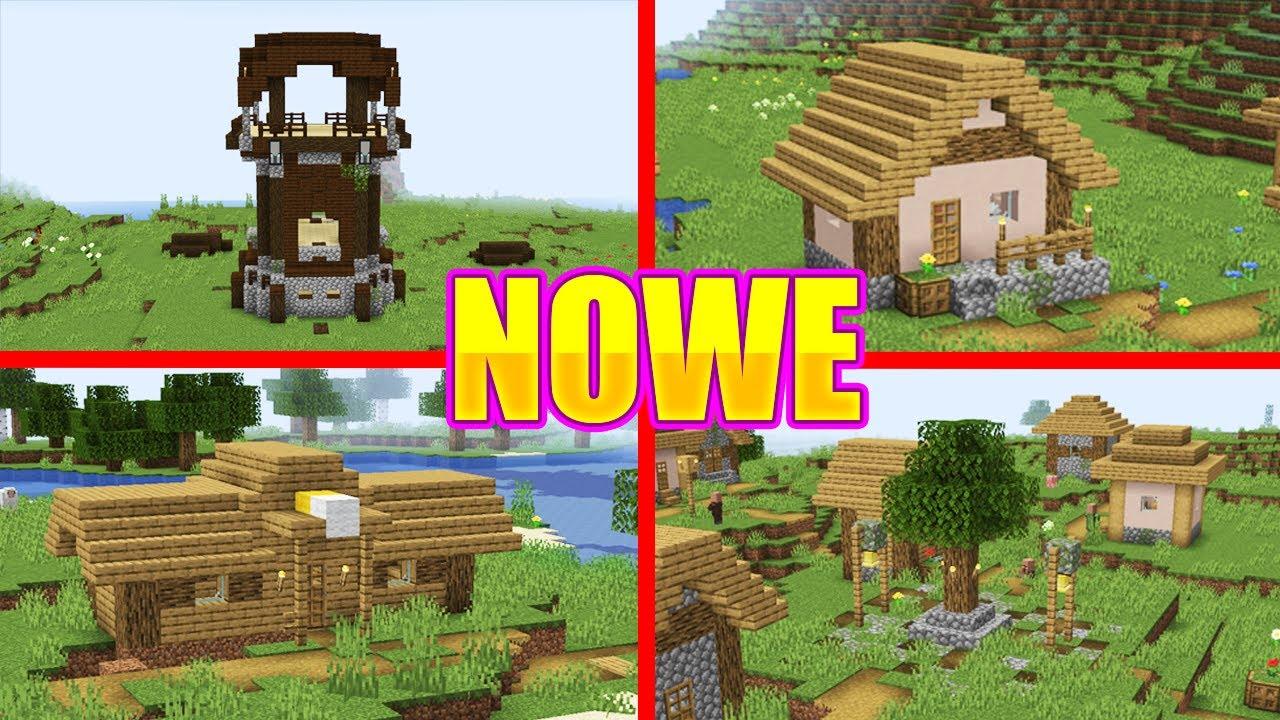 40 nowych struktur w minecraft nowe wioski youtube. Black Bedroom Furniture Sets. Home Design Ideas