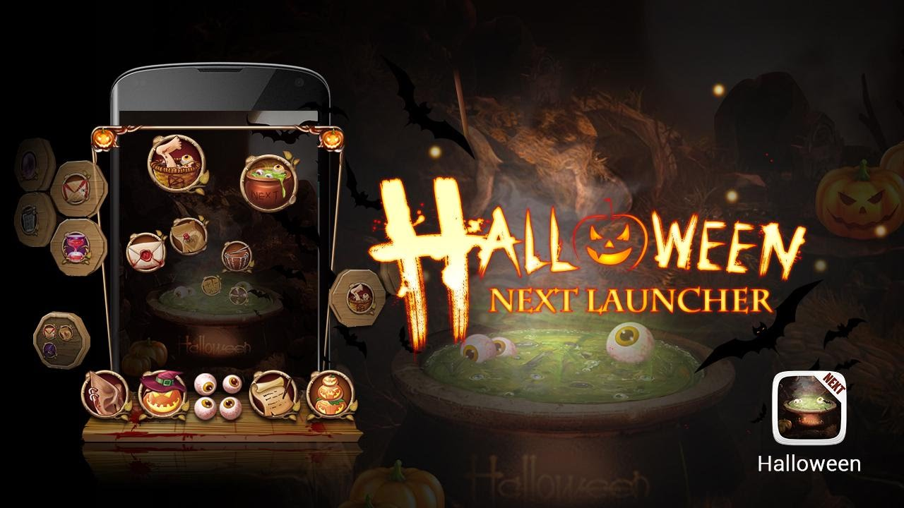 next launcher theme halloween android apk download youtube