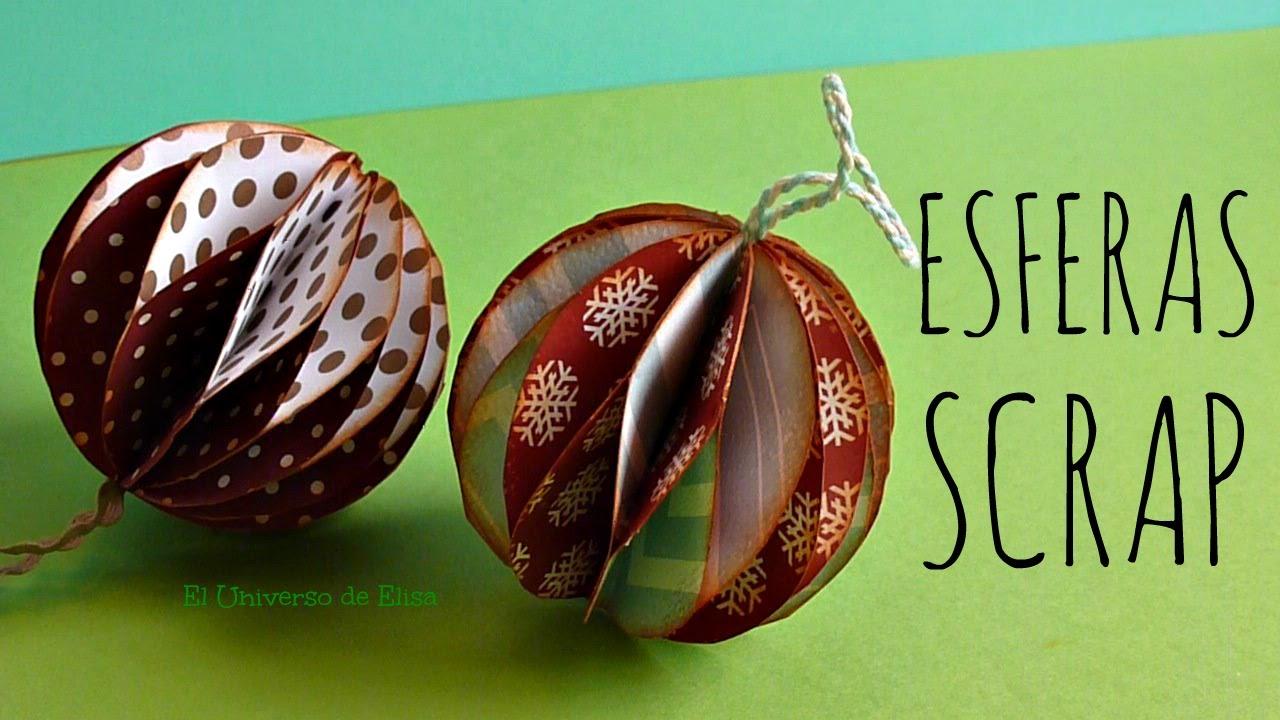 Manualidades para navidad esferas scrap esferas de papel - Adornos de navidad con papel ...