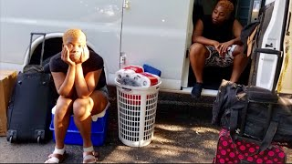 WE ARE HOMELESS?!| MOVING INTO OUR VAN| #vanlife