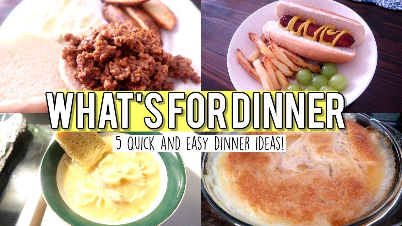 2019 Easy Dinner Ideas WHAT'S FOR DINNER | QUICK & EASY DINNER IDEAS 2019   YouTube