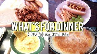 WHAT'S FOR DINNER   QUICK & EASY DINNER IDEAS 2019
