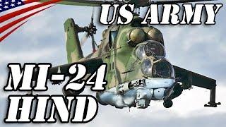 """アメリカ陸軍が保有する「Mi-24ハインド」攻撃ヘリコプター - US Army Owned """"Mil Mi-24 Hind"""" Attack Helicopter"""