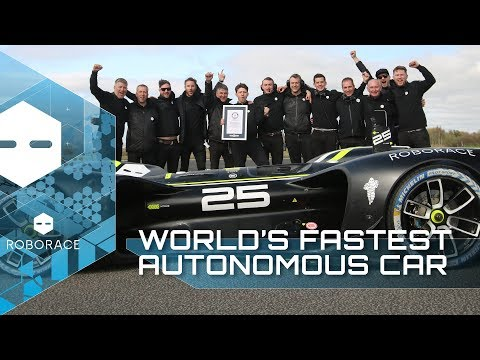 The World's FASTEST Autonomous Car | Robocar Guinness World Records | Roborace