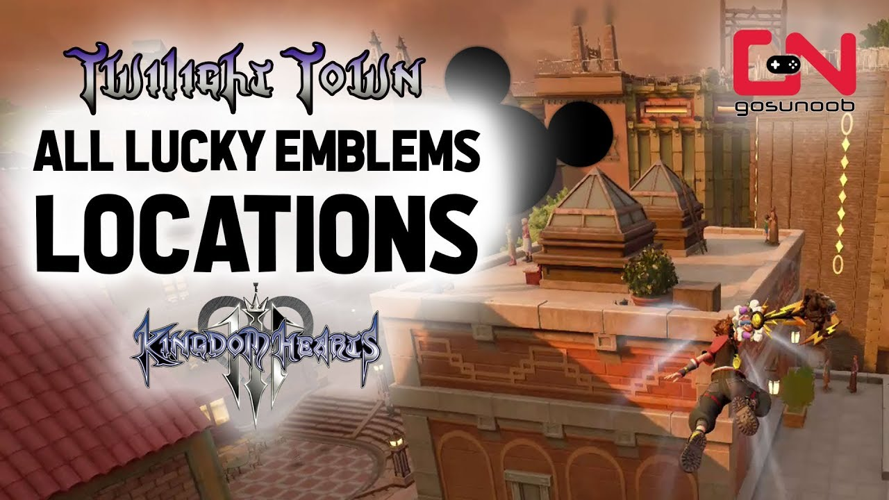 Kingdom Hearts 3 Lucky Emblem Twilight Town Locations Map