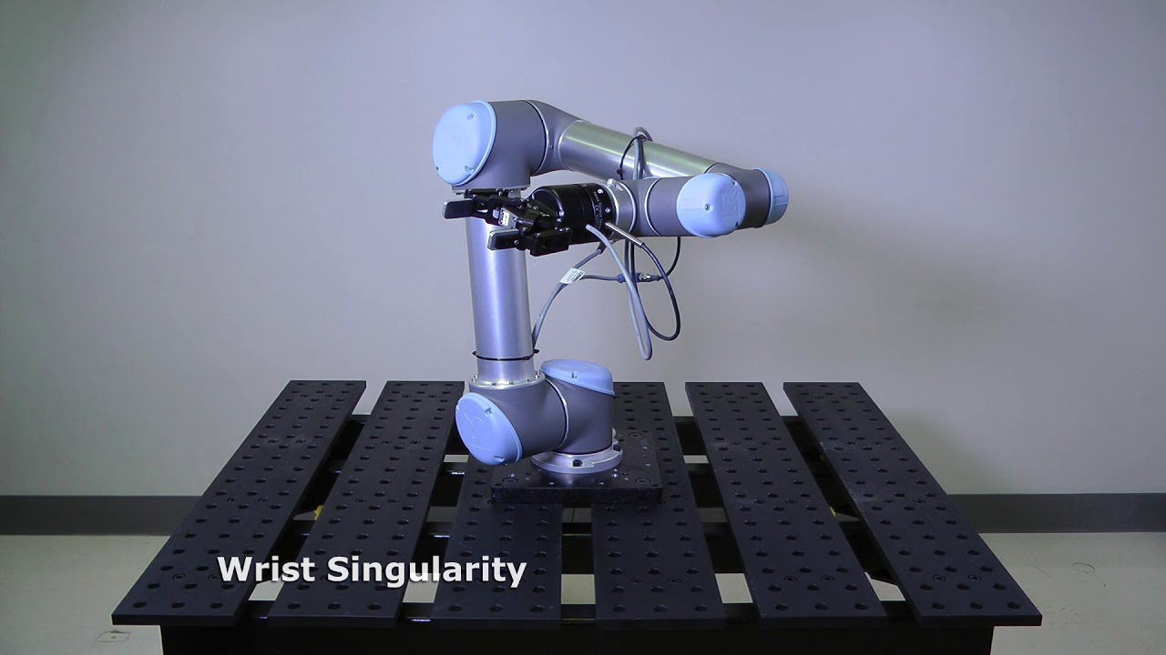 What are the singularities of a typical collaborative robot (cobot)
