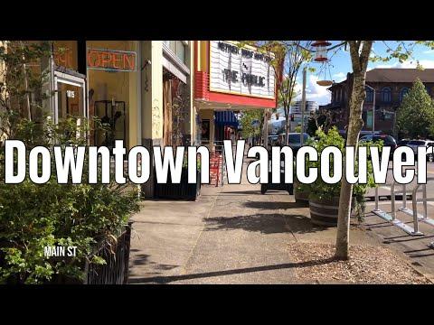 Downtown Vancouver, WA | 4K 60ᶠᵖˢ | Virtual Walking Tour | City