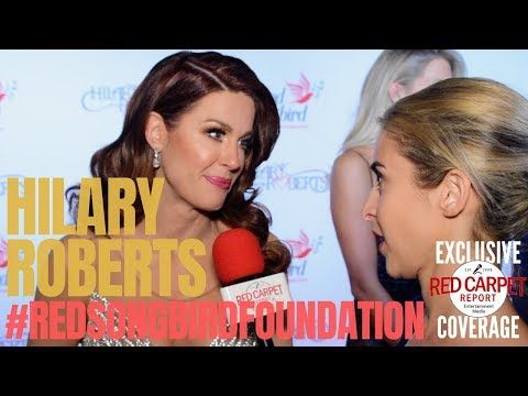 Hilary Roberts interviewed at the #RedSongbirdFoundation (RSF) Launch founded by #HilaryRoberts