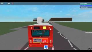 Roblox North London bus Simulator Testing a Plaxton Pointer Arriva London Route 184