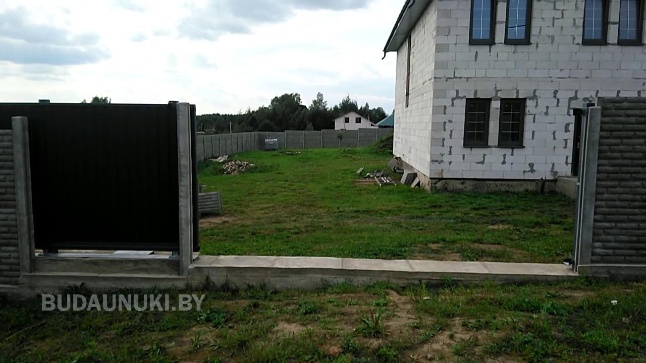 Заказать откатные ворота в Минске - YouTube
