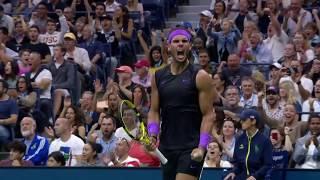 Rafael Nadal Combines Defensive Lob With 84mph Passing Shot | US Open 2019 Hot Shot