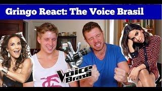 Gringos Reagem ao The Voice Brasil.. Brasileiros Cantando em Inglês  (ANITTA, IVETE, e Mais)