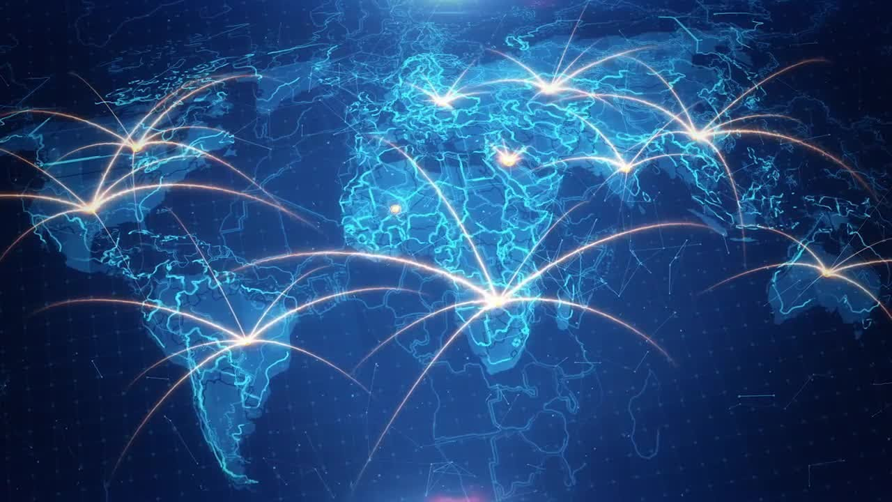 1d6097c4e307 World Map Background Connections 4K Stock Motion Graphics. Motion Array