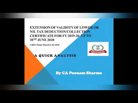 Discussion On Extension Of Validity Of Lower/Nil Deduction Certificate For TDS TCS Non-Resident  LDC