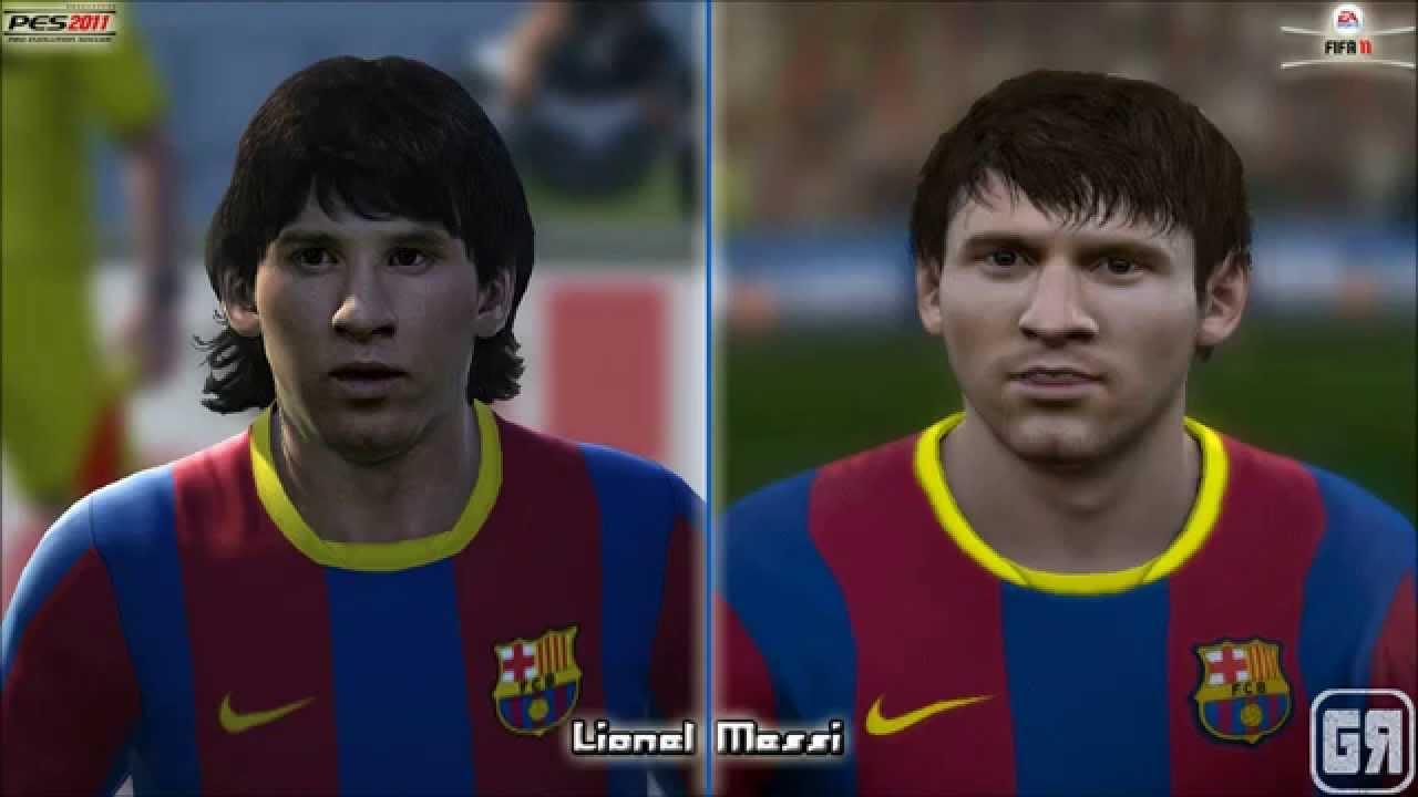 Fifa 11 vs pes 11 graphics romanian players fifa 18