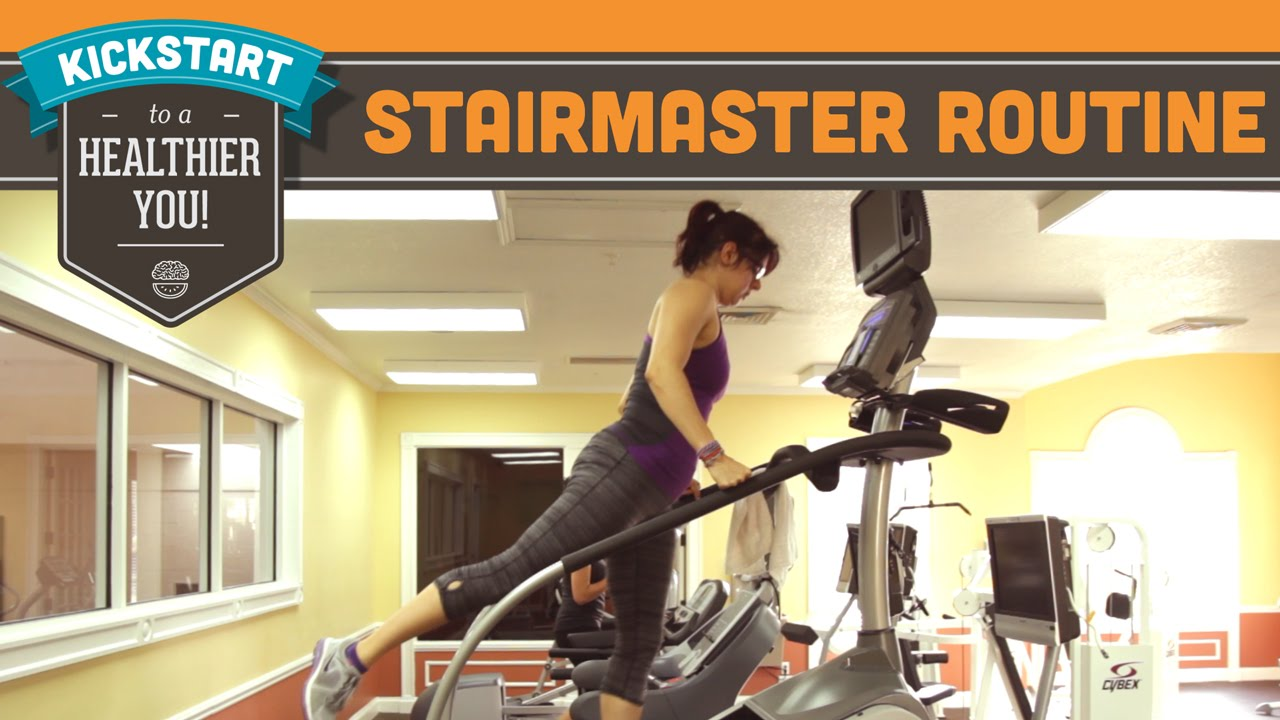 StairMaster/Stairmill Booty Blasting Cardio Routine Workout   Mind Over  Munch Kickstart Series   YouTube