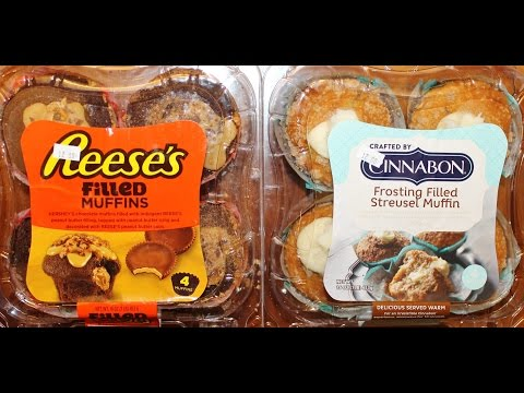 Reese's Filled Muffins & Cinnabon Frosting Filled Streusel Muffins Review