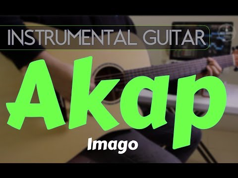 Imago - Akap instrumental guitar karaoke version cover with lyrics