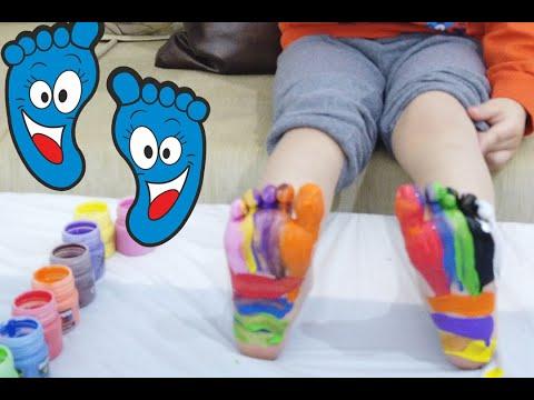 Parmak Boyama Sulu Boya Parmak Baski Sanatin Renkleri Sulu