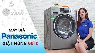 Máy giặt Panasonic: giặt nước nóng, giặt nhanh 49 phút (NA-128VX6LV2)