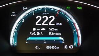 2018 Honda Civic Prestige 1.5 Vtec 182ps Mt 0-100 Kmh Kph Tachovideo Beschleunig