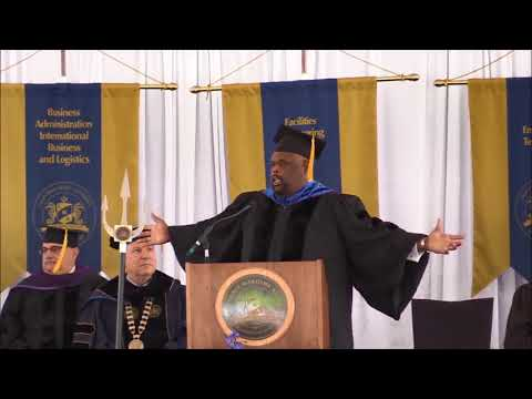 Cal Maritime Commencement Ceremony 2017   Commencement Speaker, Dr  Rick Rigsby   Part 7 of 8