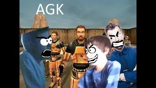 Angry German Kid plays Half Life Deathmatch.