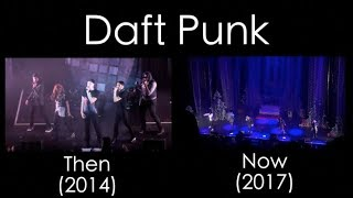 Daft Punk - Then Vs. Now Side By Side