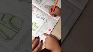 Чисто первоклассник делает уроки