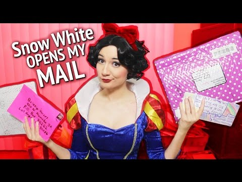 SNOW WHITE OPENS MY MAIL