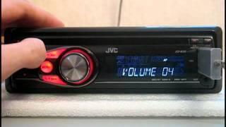 Видеообзор автомагнитолы  JVC KD-R35