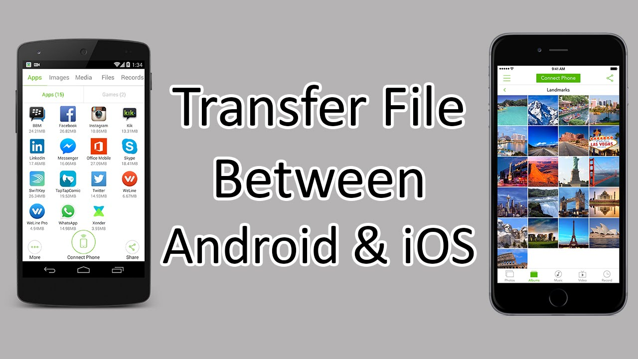 android to iphone photo transfer xender how to transfer files between android and ios 16571