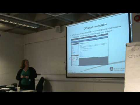 Using the CrossRef DOI to input records into ePubs -- Catherine Jones, STFC