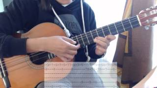 Spanish Tango Mask of Zorro TUTORIAL Guitarra mascara del zorro