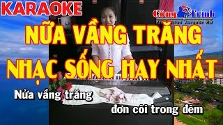 Karaoke   Nữa Vầng Trăng Remix Disco   Full Beat   Nhạc Sống Công Trình   KeyBoard Trường Giang