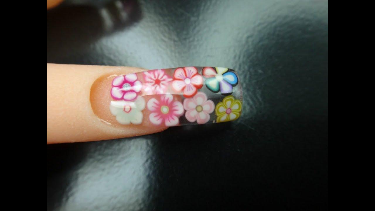 uñas de flores - YouTube