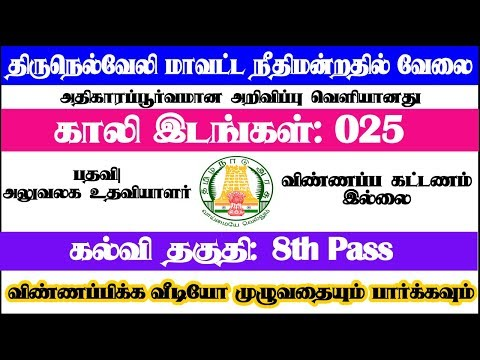tn today opening government job in tamilanguide
