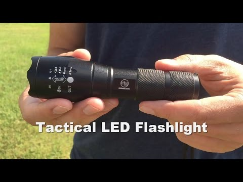 1,000 Lumen Tactical LED Flashlight by Survival Hax